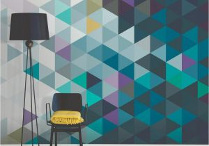 Abstract Wall Mural Ideas Brewster Abstract Triangles Wall Mural Pta President