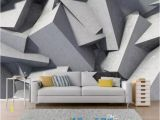 Abstract Wall Murals Wallpaper Custom Abstract Geometry Wallpaper 3d Stereoscopic Art Wall Mural Living Room Bedroom Background Wall Gray Flower Wallpaper Flower Wallpapers From