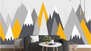 Abstract Wall Murals Wallpaper Grey Geometry Mountain Wallpaper Abstract Mountain with