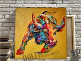 Acrylic Paint for Murals 2019 Hand Painted Oil Painting Canvas Bull Cow Painting