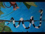 Acrylic Paint for Murals Jungle themed Mural by Caras Creations for A Child S Nursery Look