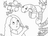 Adam and Eve In the Garden Of Eden Coloring Pages Adam and Eve Coloring Pages for Kids Adam and Eve and the Sneaky