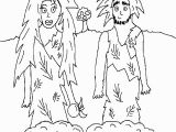 Adam and Eve In the Garden Of Eden Coloring Pages Best Adam and Eve Color Sheets Coloring Pages