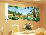 Adhesive Wall Decor Mural Sticker Removable 3d Dinosaur Wall Decor Stickers for Living Room