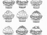 Adult Coloring Pages Cupcakes Printable Cupcake Coloring Pages Party Ideas Pinterest