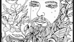 Adult Coloring Pages for Men Bearded Man Coloring Page for Adults Products