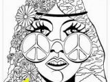 Adult Coloring Pages Hippie Coloring Psychedelic Girl butterfly Adult Coloring