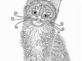 Adult Coloring Pages Kittens 630 Best ✐adult Colouring Cats Dogs Zentangles Images On Pinterest