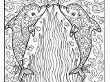 Adult Coloring Pages Nautical Christmas Dolphins Coloring Page Adult Coloring Beach Color Book