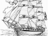 Adult Coloring Pages Nautical Full Rigged Ship Ships