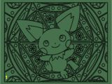 Adult Pokemon Coloring Pages 172 Pichu Pokemon Coloring Page