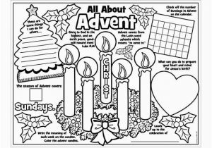 "Advent Kids Coloring Pages Paper Color Your Own ""all About Advent"" Posters"