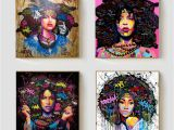African American Wall Murals 2019 African American Black Abstract Women Portrait Wall Art Afro