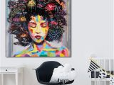 African Mural Painting Portrait Wall Art Abstract Nude American Women African Wall Art