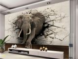 African Murals Walls Beibehang 3d Wallpaper Elephant Mural Tv Wall Background Wall Living