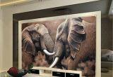 African Murals Walls Beibehang Custom Wallpaper Hd African Elephant Stereo Oil Painting