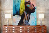 African Murals Walls Contemplator African American Portrait Wall Art Canvas Print Home
