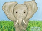 African Safari Wall Murals Elephant African Savanna Safari Zoo Animals Kids by Artbybeckieann