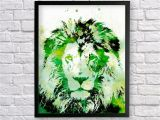 African Safari Wall Murals Lion Watercolor Art Animal Printable Art Lion Decor African Art