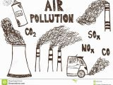Air Pollution Coloring Pages Air Pollution Doodle Stock Illustrations – 138 Air Pollution Doodle