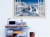 Airplane Wallpaper Murals 3d Airplane Wallpaper Removable Wall Sticker Vinyl Wall Art Mural