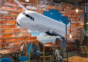 Airplane Wallpaper Murals Custom Mural Wallpaper for Walls 3d Stereoscopic Aircraft