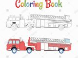 Airport Fire Truck Coloring Page Fire Truck Stock Vector Alamy