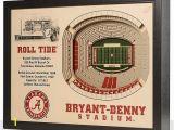 Alabama Football Wall Murals Alabama Crimson Tide Wooden 25 Layer Stadiumview 3d Wall Art