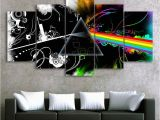 Album Cover Wall Murals Pink Floyd Music Band Canvas Hd Wall Decor 5pc Framed Oil