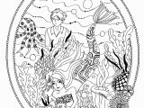 Algae Coloring Pages Little Mermaid Garden Water Worlds Adult Coloring Pages