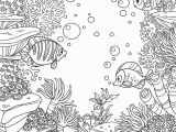 Algae Coloring Pages Underwater World with Corals Fish Algae and Anemones