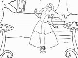 Alice In Wonderland Coloring Pages 2010 Alice In Wonderland Coloring Page