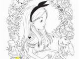 Alice In Wonderland Coloring Pages Tim Burton Tim Burton S Alice In Wonderland Coloring Page