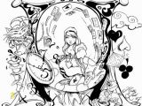 Alice In Wonderland Trippy Coloring Pages 50 Trippy Coloring Pages