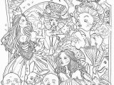 Alice In Wonderland Trippy Coloring Pages Printable Coloring Pages Of Alice In Wonderland