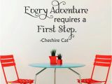Alice In Wonderland Wall Mural Alice In Wonderland Wall Decal Quote Cheshire Cat Wall Sayings Every Adventure Requires A First Step Alice In Wonderland Wall Decor 081