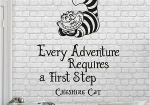 Alice In Wonderland Wall Murals Alice In Wonderland Wall Decal Quote Every Adventure Requires