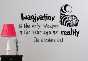Alice In Wonderland Wall Murals Alice In Wonderland Wall Decal Quote Imagination is the Ly Weapon