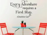 Alice In Wonderland Wall Murals Alice In Wonderland Wall Decal Quotes Every Adventure Requires A