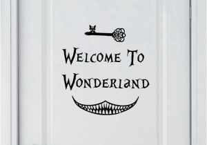 Alice In Wonderland Wall Murals Aliexpress Buy Alice In Wonderland Wall Sticker Art Decor
