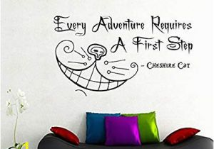 Alice In Wonderland Wall Murals Amazon Cheshire Cat Wall Decals Alice In Wonderland Quote