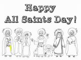 All Saints Day Coloring Pages for Kids Look to Him and Be Radiant October 2018