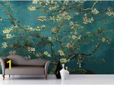 Almond Blossom Wall Mural 3d Wallpaper Rolls Almond Branches by Van Gogh Livingroom