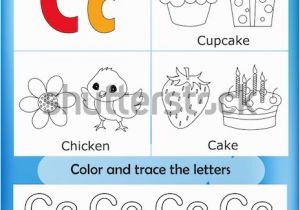 Alphabet Coloring and Tracing Worksheets Alphabet Learning Letters Coloring Graphics Printable Stock