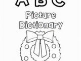 Alphabet Coloring Book and Posters Christmas Dictionary Coloring Book