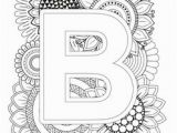 Alphabet Coloring Book and Posters Mindfulness Coloring Letter B