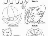 Alphabet Coloring Pages Az My A to Z Coloring Book Letter W Coloring Page Kids