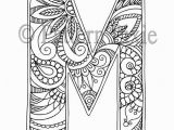 """Alphabet Coloring Pages for Adults Adult Colouring Page Alphabet Letter """"m"""""""