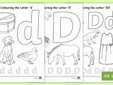 Alphabet Coloring Pages In Spanish Letter D Colouring Pages Teacher Made