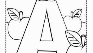 Alphabet Coloring Pages Preschool A is for Apples Free Coloring Pages for Kids Printable Colouring